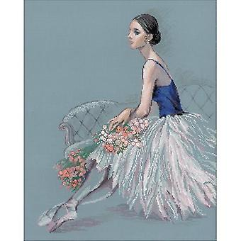 Ballerina Counted Cross Stitch Kit-15.75
