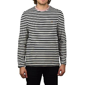 Farah Trafford Striped Long-Sleeved T-Shirt (True Navy)
