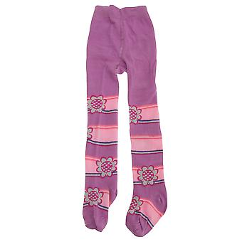 Baby Girls Flower/Stripe Design Tights With Elastane