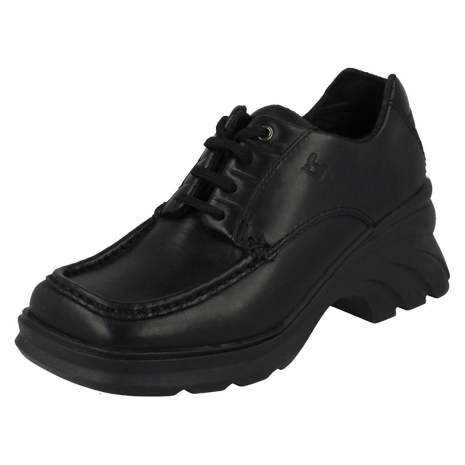 e6a7a67b9be7 Girls Bootleg Biker Chick Heeled Formal School Shoes Shoes Shoes 173b3a