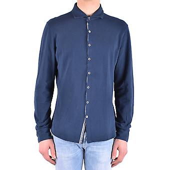 Peuterey men MCBI235150O Blau cotton shirt