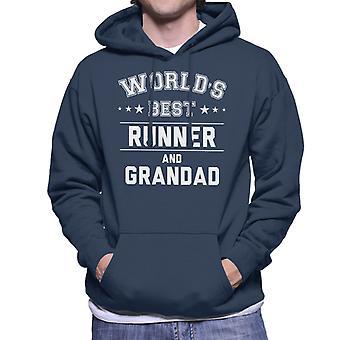 Worlds Best Runner And Grandad Men's Hooded Sweatshirt