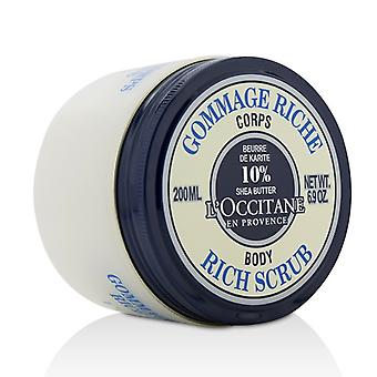 L'Occitane Shea Butter Rich Body Scrub 200ml/6.9oz