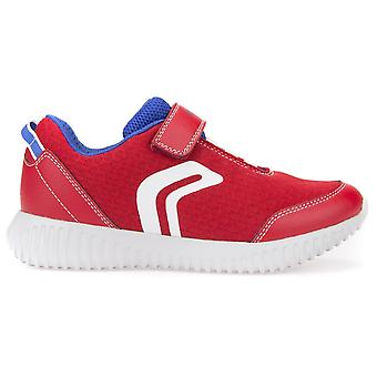 Geox Boys Waviness J826TA Trainers Red