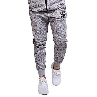 Sik Silk Joggers Apex Track Bottoms - Light Grey Marl