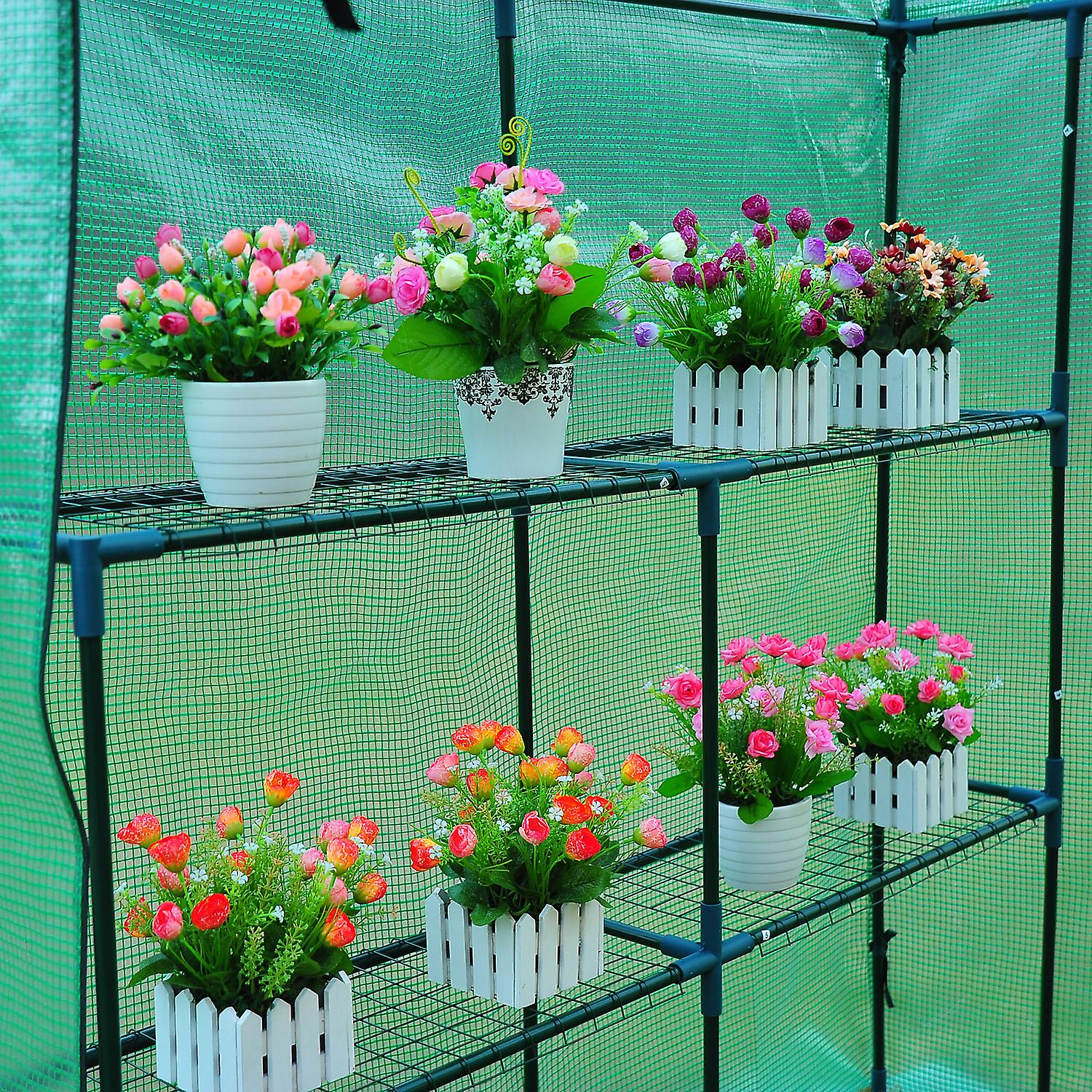 Walk In Polytunne Greenhouse Grow House Plant Replacement cover Outdoor Flowers