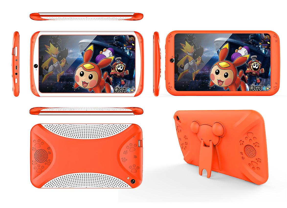 Android Tablet Computer  Orange– For Kids,7 Inch Display, HD Visuals, 3000mAh Battery, Sophisticated Hardware, WiFi (Orange)