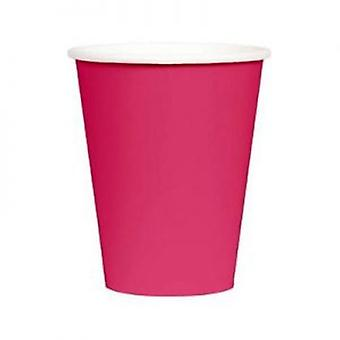 Hot Pink 9oz Paper Cup