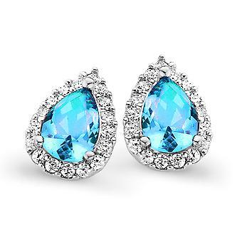 Orphelia plata 925 pendiente gota topacio azul (turquesa) Color zirconio ZO-7226/BT/1