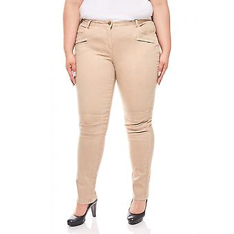 Tamaris jeans decorative stitching plus size beige