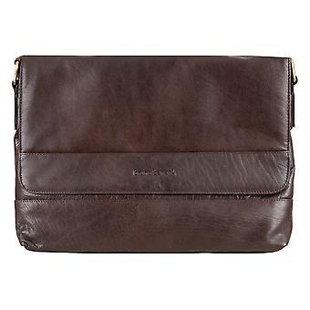 Bruno Babbar Herre læder taske skuldertaske skuldertaske laptop taske Rejsetaske Brown 6466