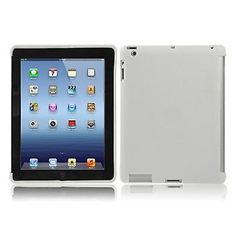 Protective cover silicone TPU for Apple iPad 3 sleeve case bag white + foil