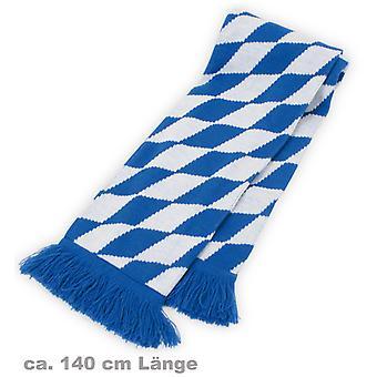 Strickschal Bayern Bavaria blau-weiss Schal