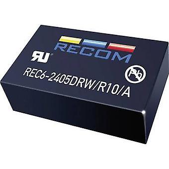 RECOMENDADO REC6-0505SRW/R10/A REC6-0505SRW/R10/A 6W DC/DC convertidor REC6-0505SRW/R10/A 4.5-9 VCC 5 Vcc 6 1 W