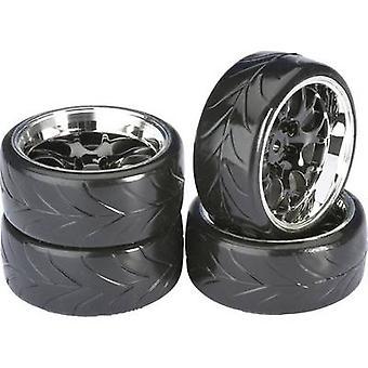 Absima 1:10 Road version Wheels Drifter A Honeycomb Black-chrome 4 pc(s)