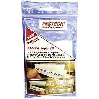 Hook-and-loop label patches stick-on White Fastech 610-010-Bag