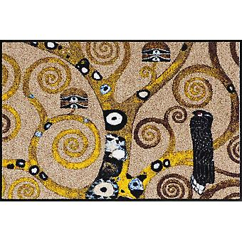 Gustav Klimt dørmåtte livets træ vaskes gulvet måtten