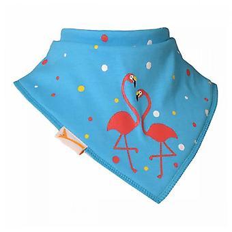 Bavaglino bandana blu flamingo