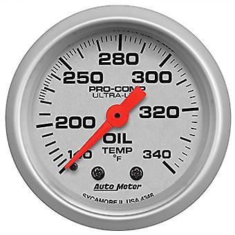 Auto Meter 4346 Ultra-Lite Mechanical Oil Tank Temperature Gauge