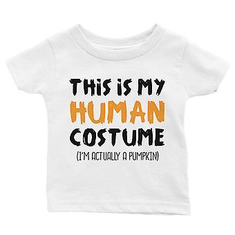 Human Costume Pumpkin Baby Gift Tee White