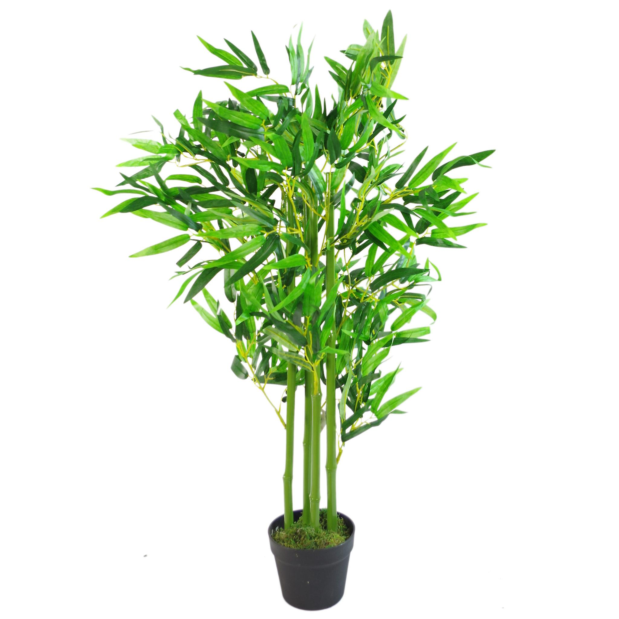 120cm (4ft) Fat Leaf Artificial Bamboo Plants Trees - XL