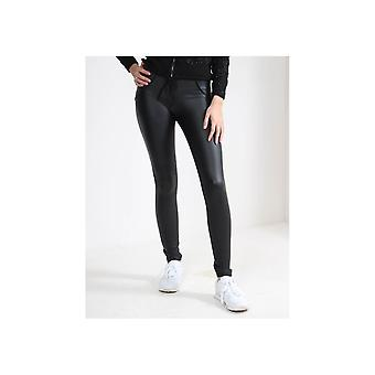Freddy Mid Rise Faux Leather Jeans