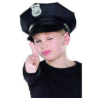 Police Cap Kind black accessory police costume Carnival