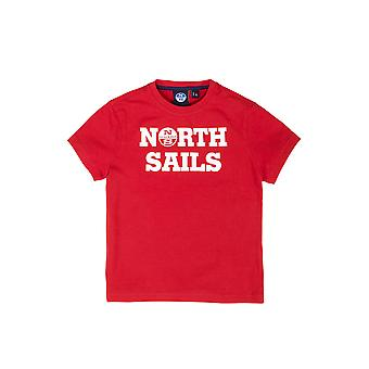 North Sails young short sleeve Jersey with ribbed collar from cotton