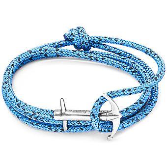 Anker og mannskapet Admiral sølv og tau armbånd - blå Noir