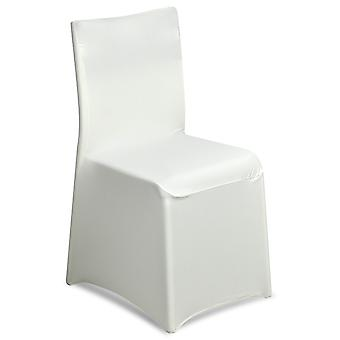 TRIXES Ivory Lycra Chair Cover for Wedding Reception Parties