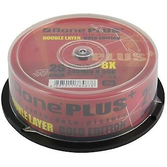 Aone DVD+R 8x Writeable 8.5GB DL Dual Layered Blank Discs 25pcs Cake Box