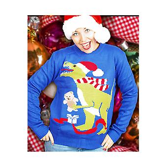 Men costumes  Christmas sweater with dinosaur for both men and women