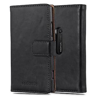 Cadorabo case for Nokia Lumia 920 - case in the luxury design with card holder and stand function - case cover sleeve pouch bag book