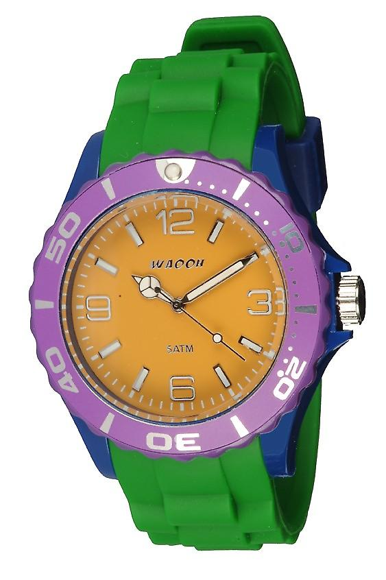 Waooh - Watch MC42 Multi violet blue & yellow mustard