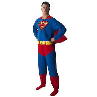Superman costume suit original of superhero jumpsuit