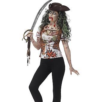 Zombie Pirate Wench camiseta, pequeño