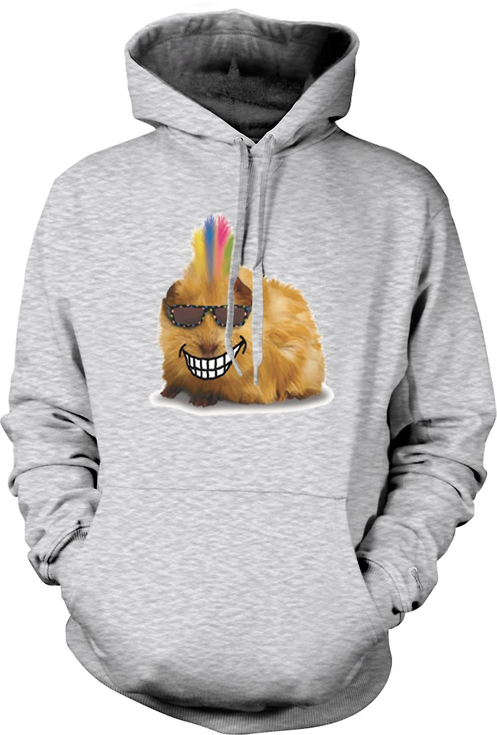 Mens Hoodie - Mohawk Styled Guinée Pig