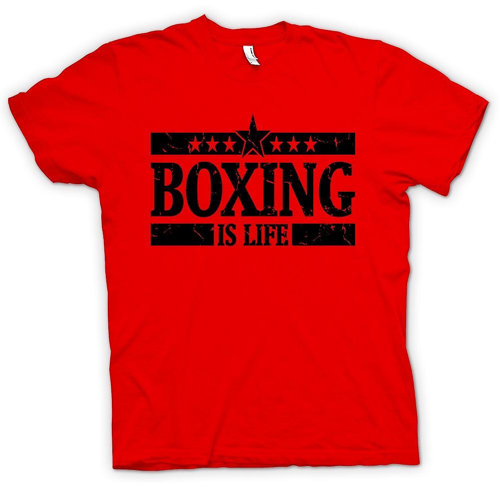 Mens t-skjorte-boksing er livet - Cool slåss