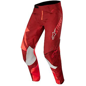 Alpinestars Red-Burgundy 2019 Techstar Factory MX Pant