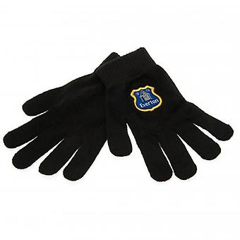 Everton Knitted Gloves Junior BLK