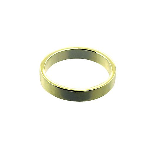 18ct Gold 4mm plain flat Wedding Ring Size Z