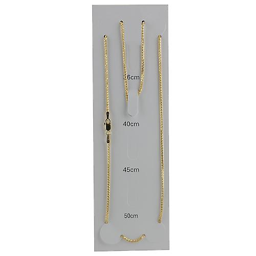 9ct Gold 1.1mm wide Spiga Chain 16 inches Only Suitable for Children