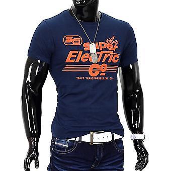 Men Summer T-Shirt Polo Stretch Slim fit shirt Clubwear Glo-Story