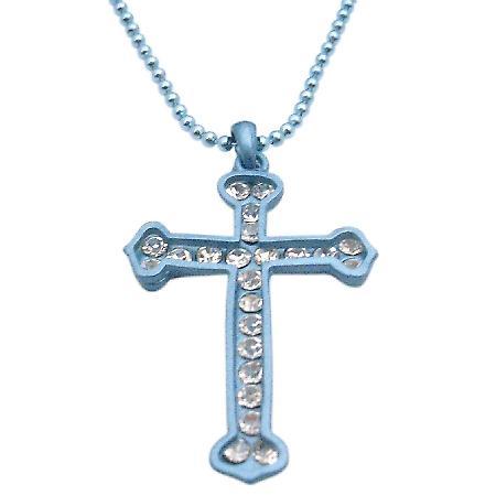 Turquoise Cross Pendant Diamante Pendant Cubic zircon Cross Jewelry