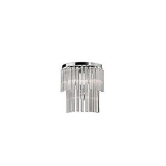 Idealne Lux - elegancka chromowana i szklane ściany światła IDL027975