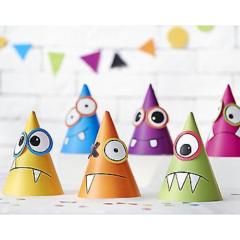 6 Design Your Own Monster Party Hats for Kids Parties | Kids Birthday Party Hats