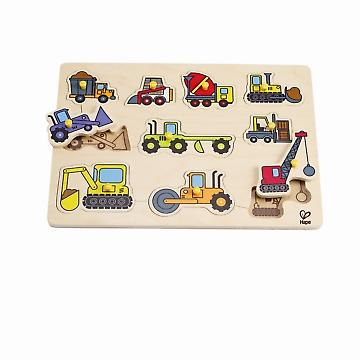 HAPE E1401 Construction Site Peg Puzzle E1401