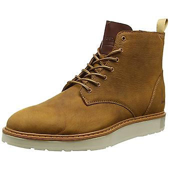 Boxfresh footwear noble mens real leather of high top Sneaker Brunter Braun