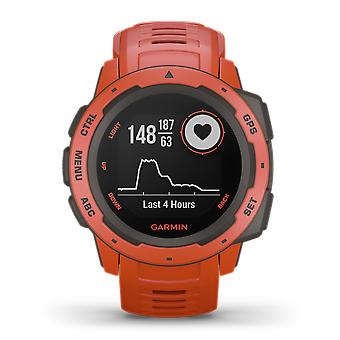 Garmin Instinct Flame Red Mens Smartwatch 010-02064-02