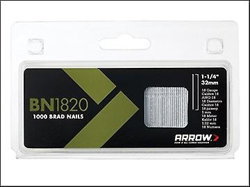 Arrow BN1820 Brad Nails 32mm 18g Box 1000